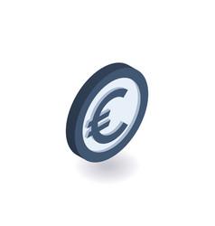 euro icon coin with euro sign vector image