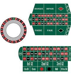 European and french roulette table vector image