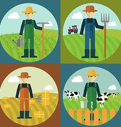 Farmer design vector image