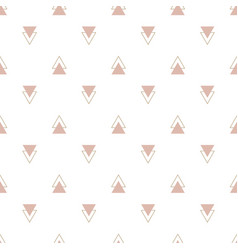fashion simple rose triangle geometric vector image