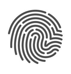 fingerprint line art icon crime and privacy vector image