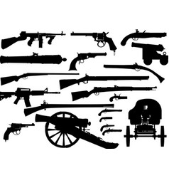 firearm weapon set vector image