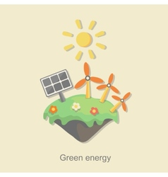 Flat design concept with icons of ecology vector