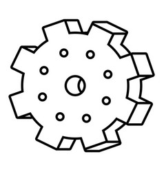 Gear cog symbol black and white vector
