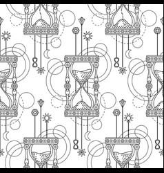 Geometric sandglass seamless pattern vector