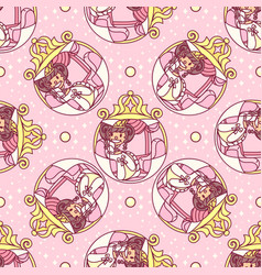Girlish seamless pattern vector
