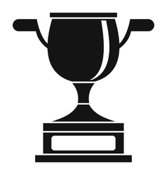 Gold cup icon simple style vector