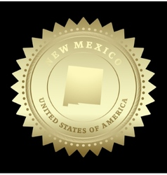 Gold star label New Mexico vector