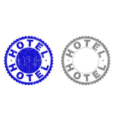Grunge hotel scratched watermarks vector