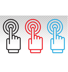 Hand touch or gesture tap flat icon for apps vector