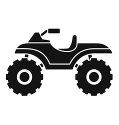 hunter quad bike icon simple style vector image