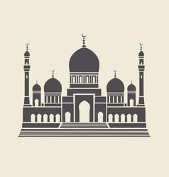 icon or stencil traditional muslim mosque vector image