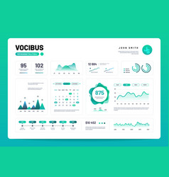 Infographic dashboard admin panel interface with vector