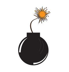 isolated comic bomb icon vector image