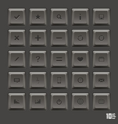 Keyboard keys set vector
