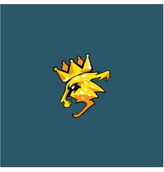 King cheetah logo vector