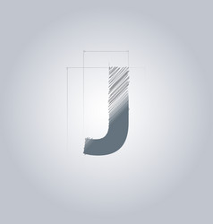 Letter j logo alphabet logotype architectural vector