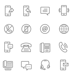 Lines icon set - communication vector