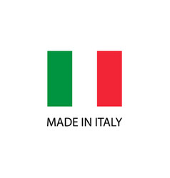 made in italy sign vector image