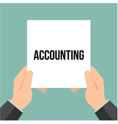 man showing paper accounting text vector image