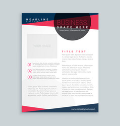 Modern pink and blue business flyer brochure vector
