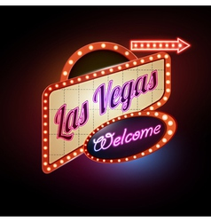 Neon sign Las Vegas vector image