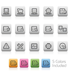 Network icons vector