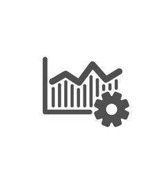 Operational excellence icon cogwheel sign vector