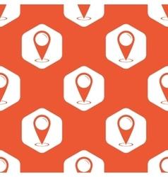 Orange hexagon area pointer pattern vector image