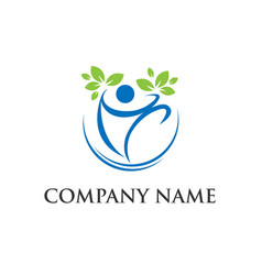 organic people logo vector image