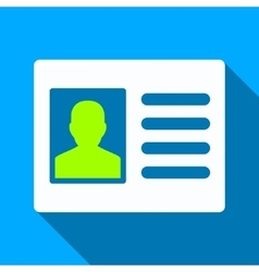 Patient Account Flat Long Shadow Square Icon vector
