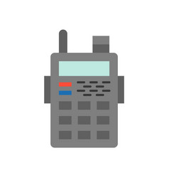 police radio walkies talkie icon police related vector image