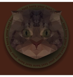 Polygonal mosaic of head of cat vector