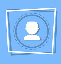 Profile icon user member avatar vector