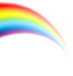 rainbow white vector image vector image