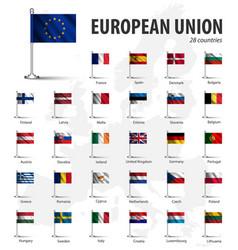 realistic flag of european union eu vector image
