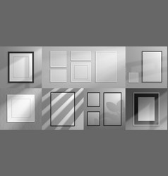realistic frames interior decorative elements 3d vector image