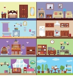 Rooms of house vector
