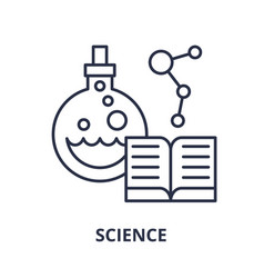science line icon concept science linear vector image