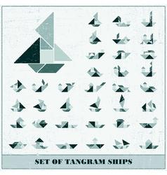 Set of ships vector