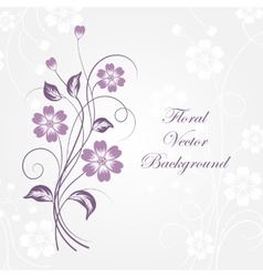 Simple floral background vector image