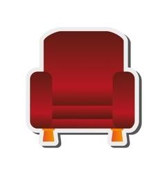 Sofa chair icon vector