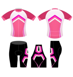 Sports cycling woman clothing vector image