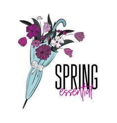 spring essential beautiful vector image