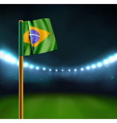 Start soccer match in Brazil vector