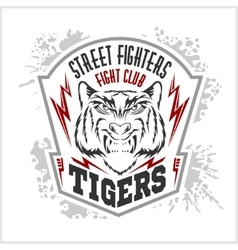 Street fighters - Fighting club emblem label vector image
