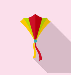 String kite icon flat style vector