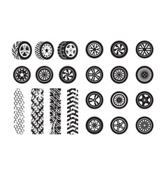tire texture car wheel rubber tires picture vector image