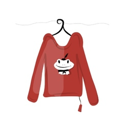 Top on hangers with funny frog design vector image
