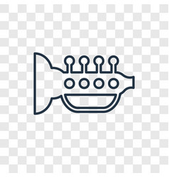 Trumpet toy concept linear icon isolated on vector